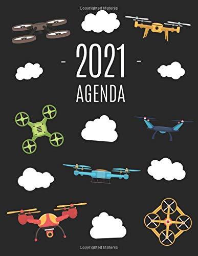 Drone Agenda 2021: Diario Settimanale per Organizzare Giorni Occupati   Pianificatore Giornaliera 2021