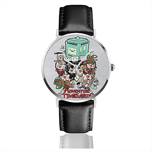Unisex Business Casual Abenteuer Zeit Dr Who Time Lords Uhren Quarz Leder Uhr