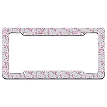 Hello Kitty Expressions Pattern License Plate Clear Frame