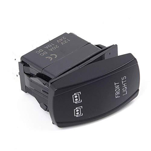 Guiping Interruptores de coche y relés 3 unids/set delantero y trasero y LED barra de luz interruptor basculante para UTV Polaris RZR 900 1000 Ranger