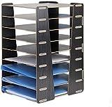 Hwljxn File stoccaggio rack in legno grande capacità staccabile verticale disordinabile conflitto multipli compartimenti bookshelf sundries desktop ufficio soggiorno box file box di archiviazione azie