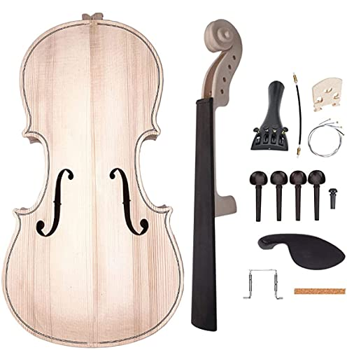 Jiayouy Violin Parts & Accessories 4/4 Violin DIY Kit for Students Beginners Music Lover Make Your Own Violin