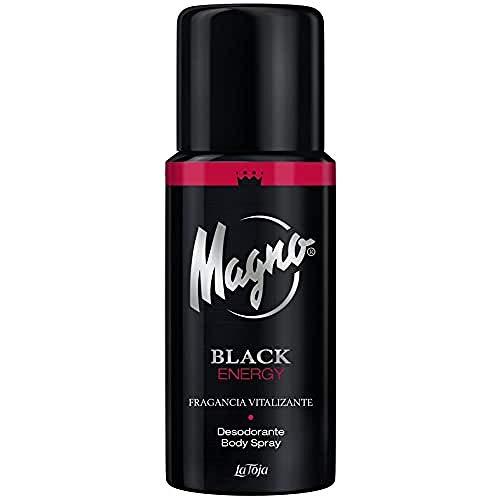 Magno - Desodorante Spray Black Energy - Fragancia energizante con toques cítricos - 1 ud de 150ml