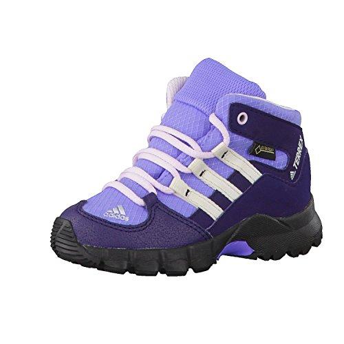 adidas Unisex Kinder Terrex Mid GTX Sneaker, Blau (Nobink/Cwhite/Aerpnk 000), 20 EU