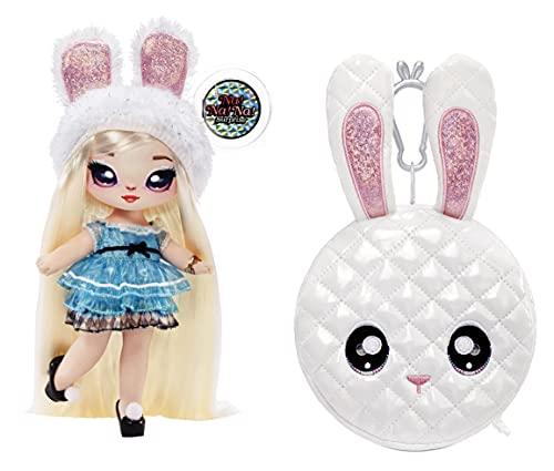 Na! Na! Na! Surprise moda 2 en 1 metálico Serie Glam-Coleccionable-Muñeca rubia con vestido azul y orejas Bolso en forma de conejo-Alice Hops 575368C3