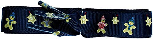 TZ Laces Marke Flach Weihnachts Band Schnürsenkel für Mode Schuhe - Blau Ingwer Brot Mann 16mm, 150