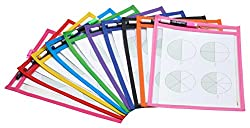 multi-colored dry erase pockets