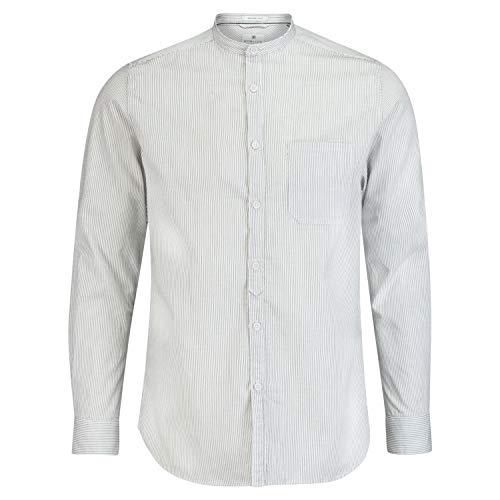 DSTREZZED Hemd mit Rundhalsausschnitt in Streifenoptik Marine (649 Dk. Navy) L