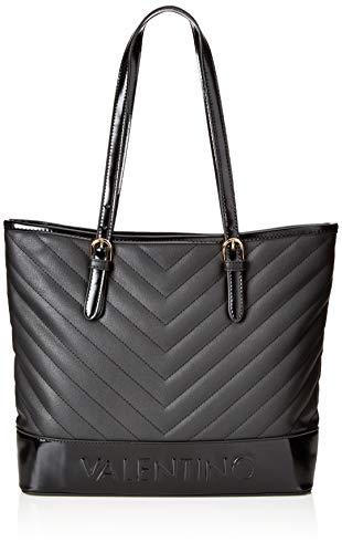 Mario Valentino VBS0WO01 - Bolsa de Poliuretano Mujer, color Negro, talla 9.5x30x34...