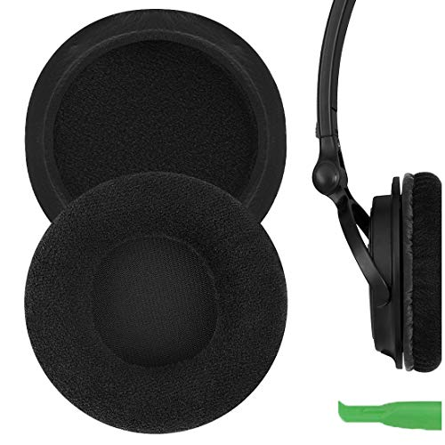 Geekria Comfort Velour Replacement Ear Pads for Sony MDR-V150 V200 V250 V300 V400 ZX300 Headphones Earpads, Headset Ear Cushion Repair Parts (Black)