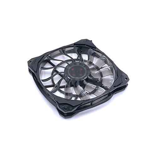 ECROZS Slim 15mm Thickness, Best for Small Case, Big Airflow of 53.6CFM 120mm PWM Control Fan with De Vibration Rubber