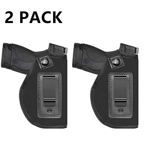 Price comparison product image Universal IWB Holster for Concealed Carry / Inside the Waistband / Fits S&W M&P Shield / Glock 26 27 29 30 33 42 43 / Springfield XD XDS / Ruger LC9