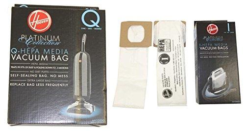 Hoover AH10000 Platinum Type-Q & I HEPA Vacuum Bags (2 Q Bags & 2 I Bags)