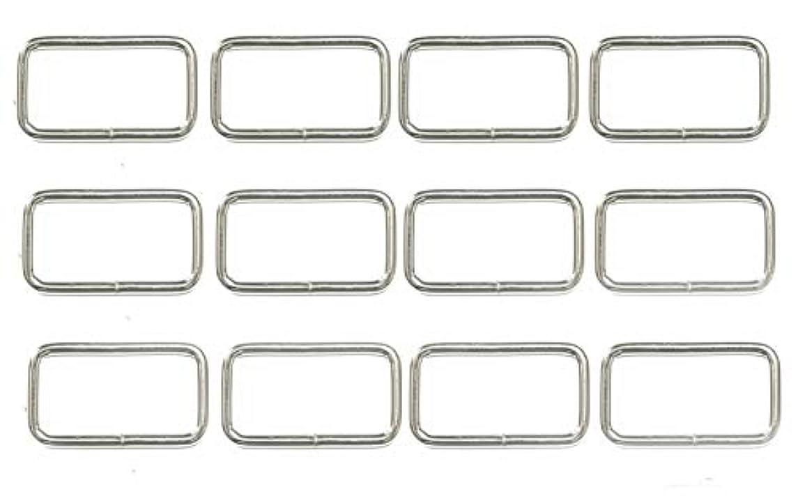 ALL in ONE Metal Bag Purse Snap Hook Rectangle Rings Webbing Belts Buckle (25mm / 1 inch - 20pcs)