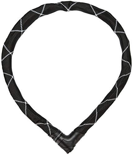 ABUS Candado de cadena Iven Chain 8210/140 – Candado de bicicleta revestido de fibra sintética – Nivel de seguridad 10 – 140 cm – 88288 – Negro