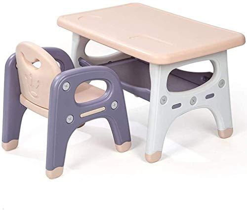 N/Z Daily Equipment Children's Desks Kids Desk and Chair Set Kids Desk and Chair Set with 2 Layer Storage Children Study Table and 1 Chair Ergonomic Interactive Workstation Ideal for Arts Crafts