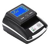 Detector de billetes falsos, Portátil USD y Euro Detección y contador de dinero falso con pantalla digital, Máquina de verificación de moneda falsa con infrarrojos, Magnético sensores ultravioleta(EU)