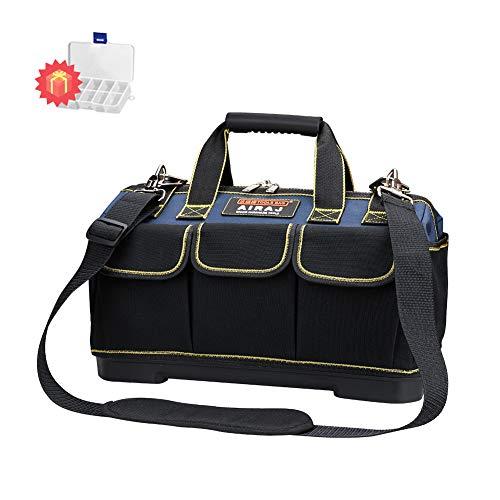 AIRAJ42×23×29cm kleine Werkzeugtasche, wasserdichte Werkzeugtasche, Multifunktionswerkzeug Einkaufstasche, Elektriker Werkzeugtasche mit Kunststoffboden und verstellbarem Schultergurt