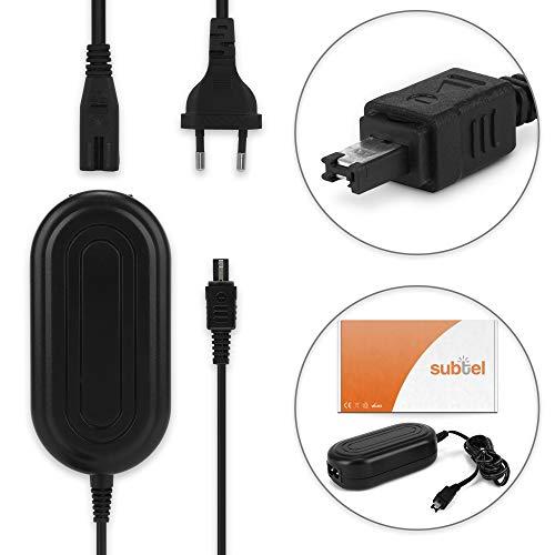 subtel® Fuente alimentación para JVC GC-PX100 -PX10 GY-HM100 GZ-MG330 -MG130 -MG575 -MG505 GZ-MS100 GZ-MC500 GZ-HD7 -HD300 -HD30 -HD3 GZ-HM200 GS-TD1, AP-V14 -V17 -V19 AP-V21 Cable Cargador Corriente