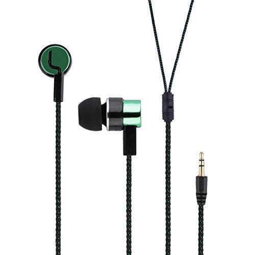 Aux Kabel, Audio Kabel, 1.5m 3.5mm Stereo Abs Geflochtene Premium Auxiliary Aux Audio Kabel Für Kopfhörer, iPods, iPhones, Ipads, Home/car Stereos Und Mehr (Grün)