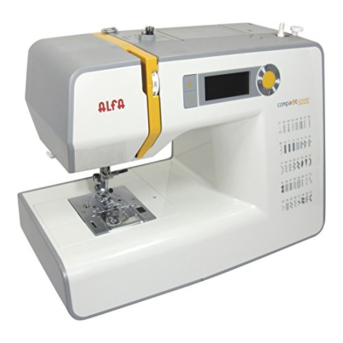 Alfa Compakt 500E-Maquina de Coser, Blanco y Amarillo