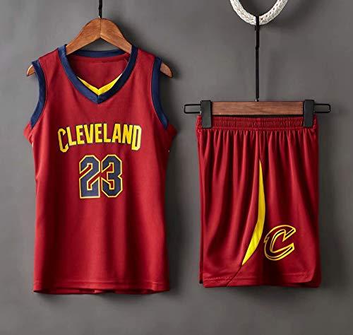 Jerseys De Baloncesto De Los Hombres, NBA Cleveland Cavaliers # 23 Lebron James - Niño Adulto Classic Tops Comfort Transpirable Deporte Sin Mangas Camiseta Uniformes Set,Rojo,XL(Adult) 165~170CM