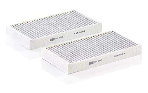 Original MANN-FILTER Filtro de habitáculo CUK 2723-2 – Paquete de filtros de habitáculo (set de 2) – para automóviles