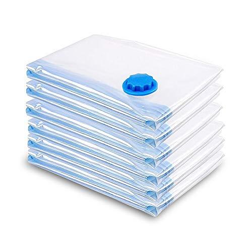 vingo Bolsas de Almacenaje al Vacío 6 Piezas compresión ecológicas para Viajes Bolsas de compresión 60x80cm, 100% Impermeable