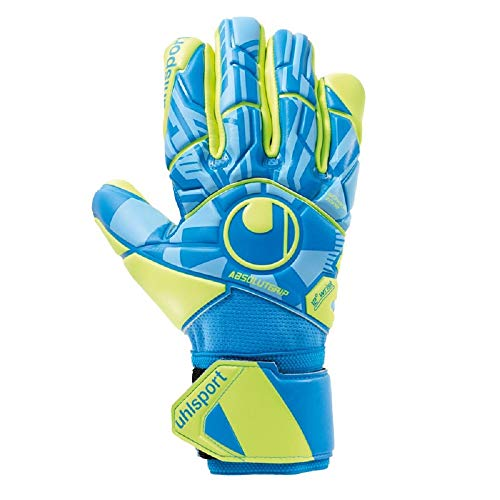 Uhlsport Radar Control ABSOLUTGRIP HN Gants de gardien de but Mixte Adulte, Bleu/Jaune Fluo/Noir, FR Unique (Taille Fabricant : 9)