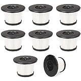 SDFIOSDOI Piezas de aspiradora 8-Conjuntos Reemplazo de Filtro HEPA, filtros de Polvo al vacío para MoOSOO K24 Cable sin Cable Aspirador (Color : White)