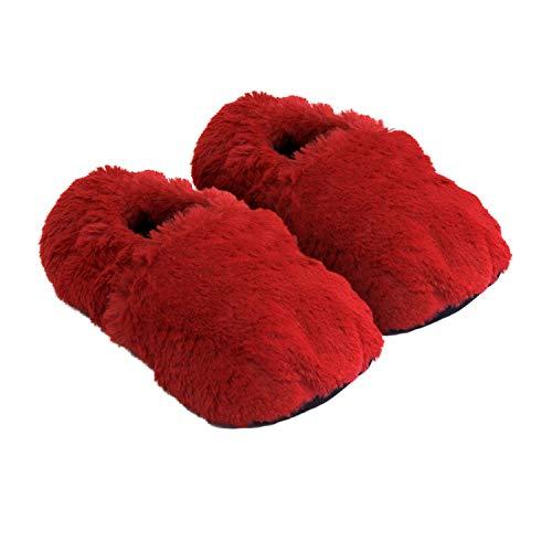 Thermo Sox pantofole riscaldabili ciabatte con semi per microonde e forno misura M / EU36-40 rosso - pantofole per microonde ciabatte calde Scaldapiedi