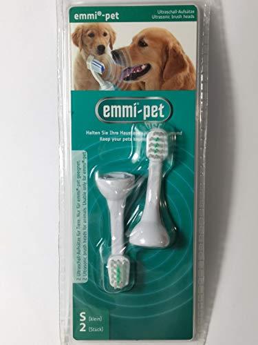 Emmi-pet Ultraschall-Borstenkopf-Aufsätze für Tiere (2 x Größe S)