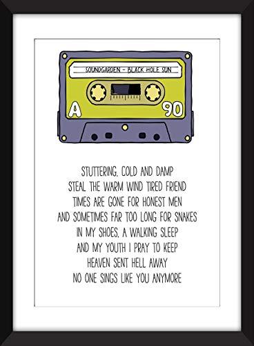 Soundgarden Black Hole Sun - Unframed Lyrics Print/Ungerahmter Druck