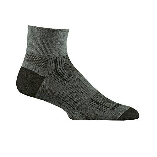 WRIGHTSOCK(ライトソック) STRIDE (ストライド) Quarterタイプ(クォータータイプ)靴擦れ防止 靴ムレ防止 W0005GRS グレー Small (21.5~23.0cm)