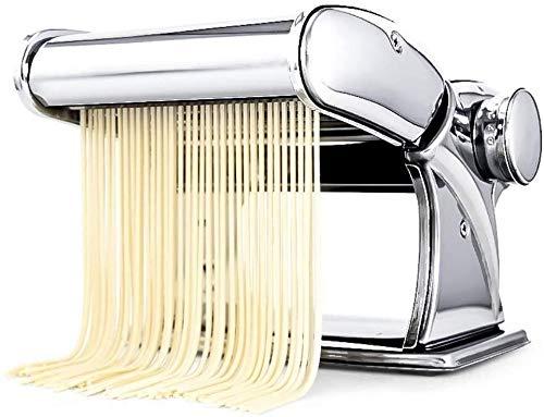 YONGRU Nudelmaschine for Authentic Pastas Spaghetti Einstellbare Stärkeeinstellungen waschbar Teig, der Werkzeuge Rollen Press Kit