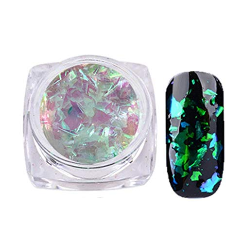 Vektenxi 2 gr/schachtel Nagel Pulver Nail Art Wunderschöne Chamäleon Spiegel Pulver Maniküre Chrom Pigment Glitters 5 Stilvoll