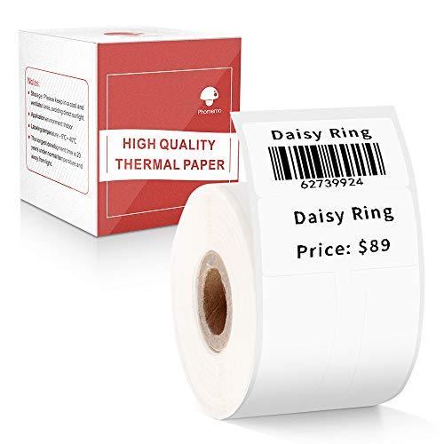 Phomemo M110対応 感熱ロール紙 シール 値札 25mm*30mm F形タイプ 100枚入り/巻 感熱ラベルプリンター用 業務用ハンドラベラー 印刷用紙 接着剤ある 通常再剥離