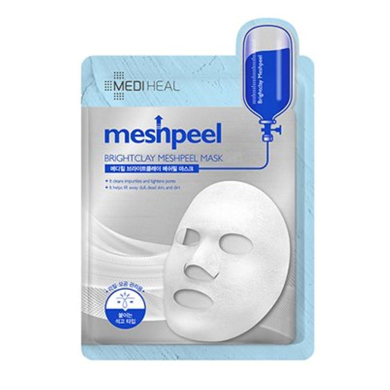 適合見分ける明るくする[New] MEDIHEAL Brightclay Meshpeel Mask 17g × 10EA/メディヒール ブライト クレイ メッシュ ピール マスク 17g × 10枚