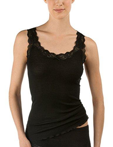 CALIDA Damen Richesse Lace Unterhemd, Schwarz (schwarz 996), 38 (Herstellergröße: XS=36/38)