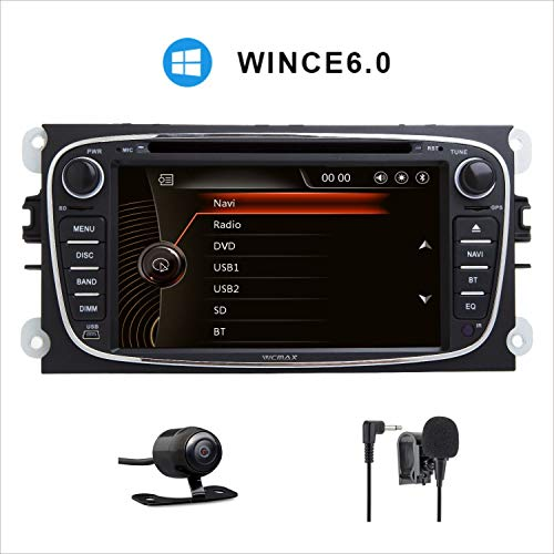 17,8 cm (7 Zoll) HD Digitaler kapazitiver Touchscreen Dual CANbus Auto Stereo DAB+ Radio RDS Bluetooth CD DVD Player GPS Bildschirm Mirroring für Ford Focus Mondeo Galaxy S-Max C-Max Kuga 3G