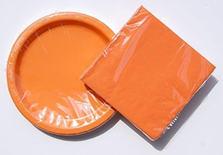 Tangerine (orange) Birthday Party Supply Kit  Plates and Napkins by WalMart, Inc.