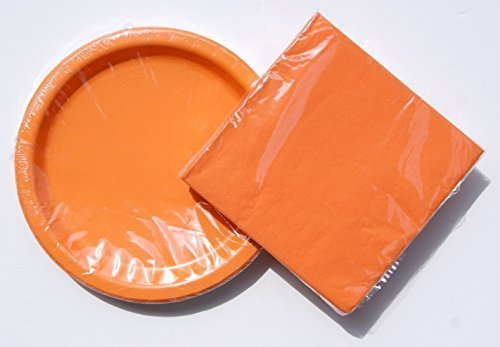Tangerine (Orange) Birthday Party Supply Kit - Plates and Napkins by