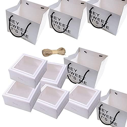 5 Pcs Cajas para Cupcakes, Caja de Embalaje de Cupcakes, Caja de...
