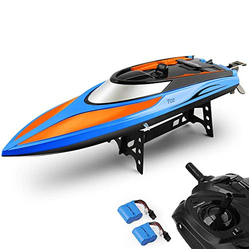 E T RC Boat, Remote Control Boat for Pools and Lakes 2.4GHz High Speed RC Racing...
