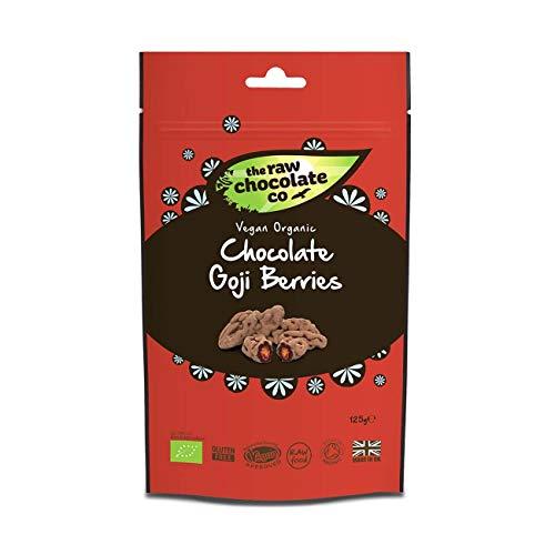 2 x The Raw Chocolate Company Organic Chocolate Goji Berries Pouch 125g