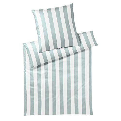 Covered Juego de cama Connect Mint, 1 funda nórdica de 135 x 200 cm y 1 funda de almohada de 80 x 80 cm