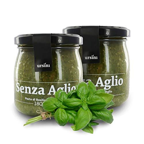 Ursini Salsa Pesto clásica sin ajo - 180 gr (Paquete de 2 Piezas)