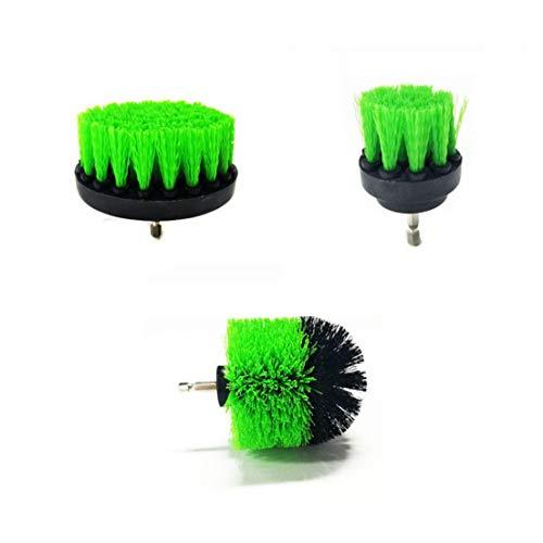 BiaBai Juego de 3 piezas de limpieza de fregadora eléctrica de lechada de azulejos, exquisito, ordenado, duradero, cepillo de taladro, limpiador de tina, kit combinado