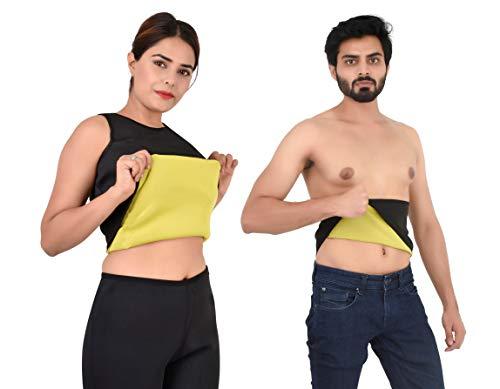 Body Shaper Belt Non-Tearable Fat Reducer Tummy Slimming Belt for Men and Women (Size M, L, XL, XXL, 3XL, 4XL) (Black)