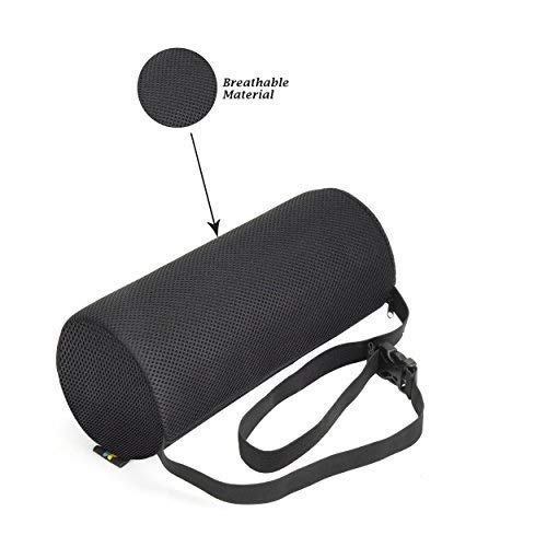 Lumbar Support Roll Pillow With (Standard Density) Cool Ventilation Technology, and Clip to Strap to the Chair, Sciatica and Pain Relief